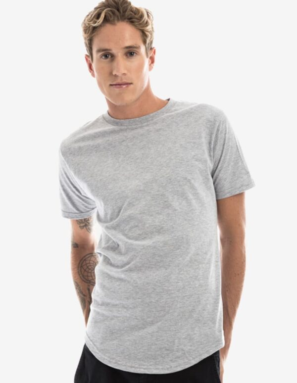 Long-line Curved Hem T-Shirt