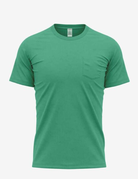30spkt kelly heather front, Bulk Bi-blend Pocket T-shirt