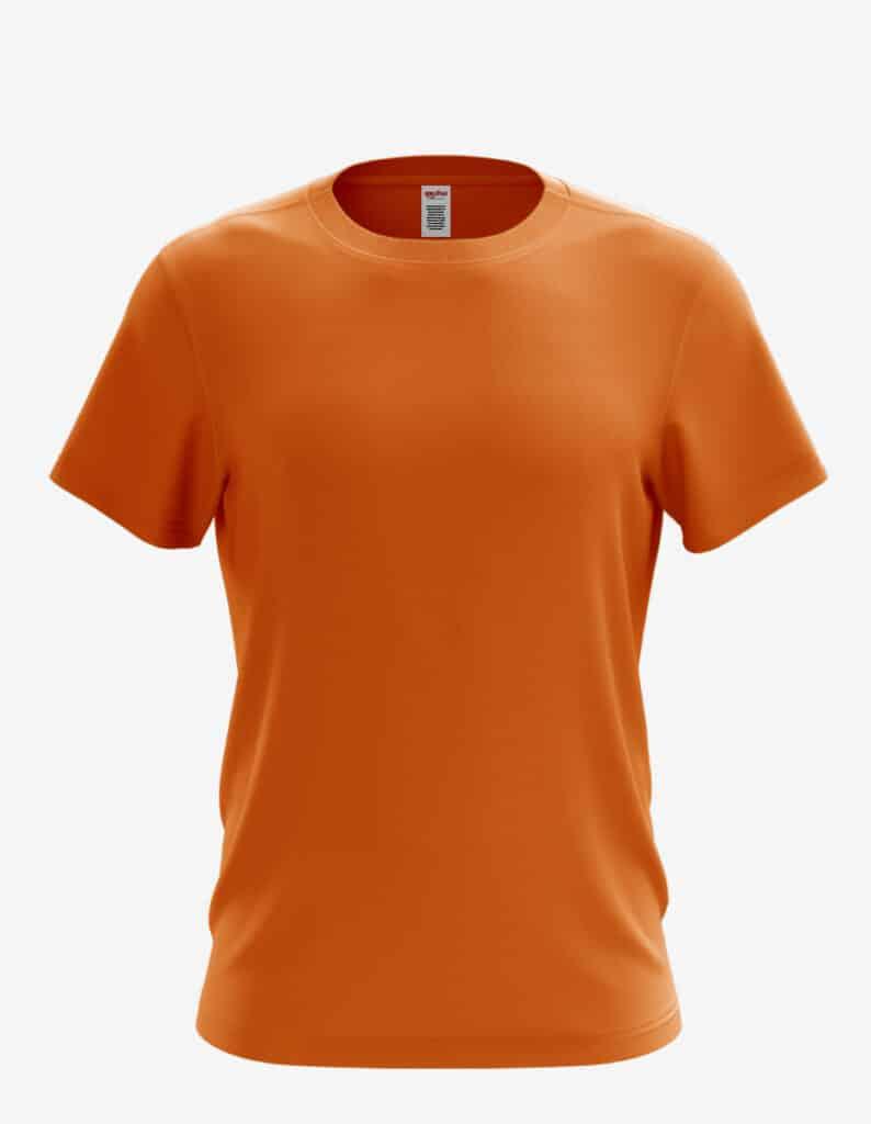 3100 orange front, 100% Cotton