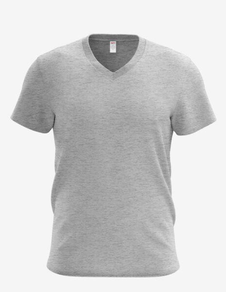 3105 heather grey 1, Bulk V-neck T-shirt