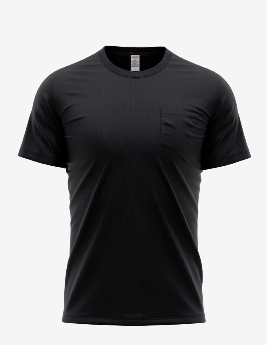 31spkt black front, Bulk Pocket Perfection T-Shirt