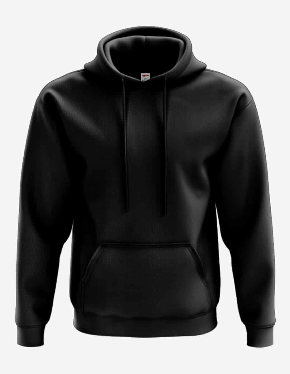 4000 front black, Bulk Pullover Hoodie