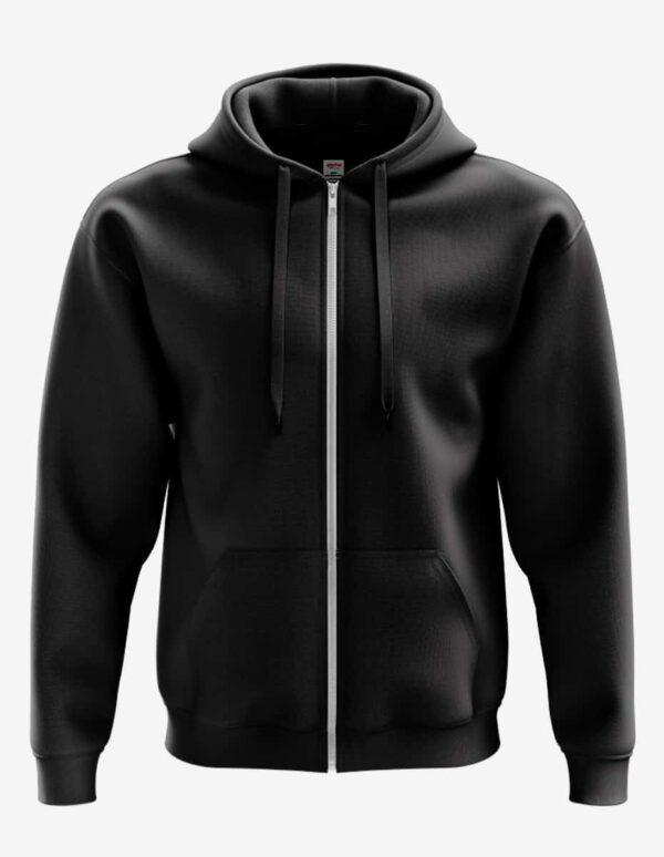 4000pz front black, Bulk Zipper Hoodie