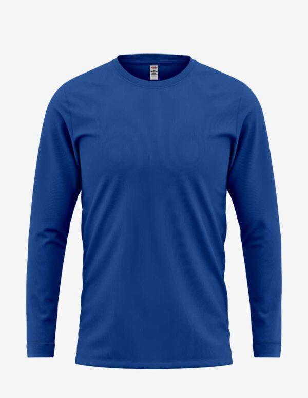 5006 blue front, Bulk Unisex Classic Heritage Long Sleeve