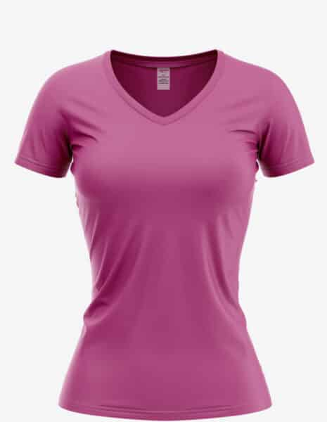 8500 hot pink front, Bulk Junior Vee T