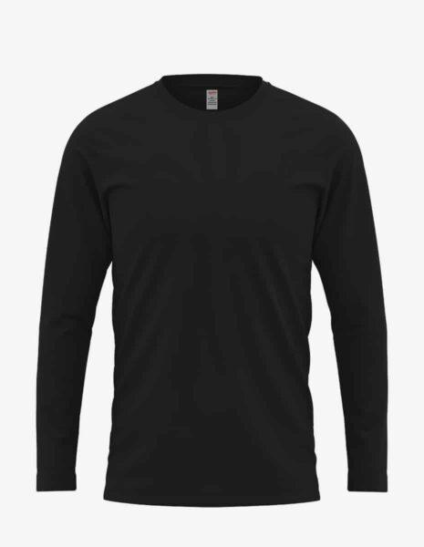 black front, Bulk Long Sleeve T-Shirt