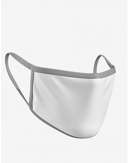 White Grey Face Mask